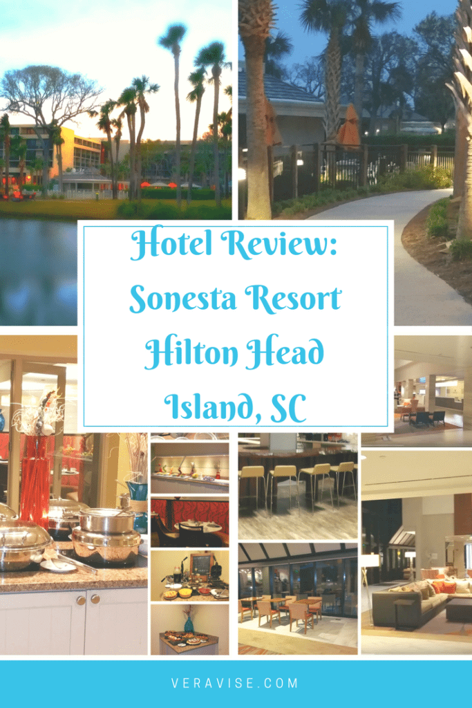 Pinterest Image for Hotel Review on Sonesta Resort, HHI, SC