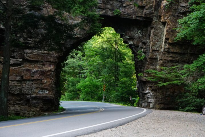Hiking Backbone Rock In Shady Valley Tennessee: The Shortest Tunnel In The World