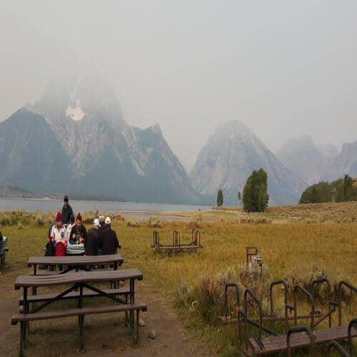 Breakfast on Elk Island