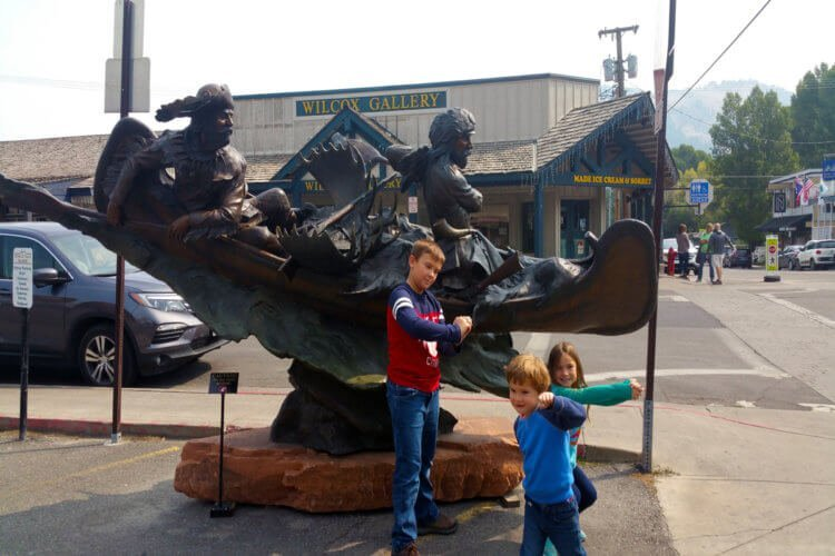 Lewis and Clark Statue Jackson Hole, WY