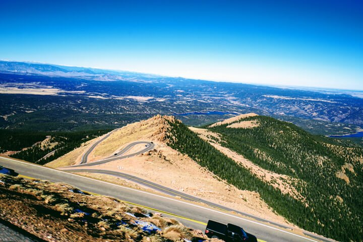 View from pike's peak drive