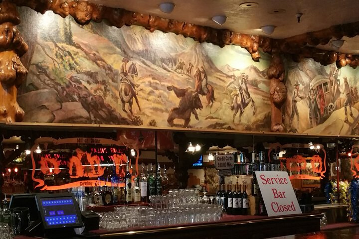 Old West Painting over Bar at the MIlion Dollar Saloon Jackson Hole, WY