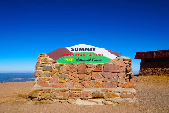 Pike's Peak Summit Sign