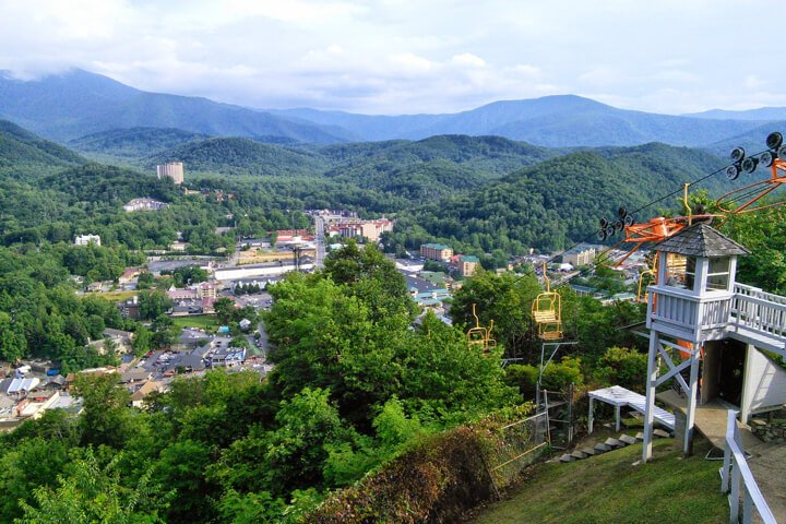 Aerial View of Gatlinburg TN
