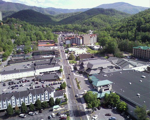 Gatlinburg Space Needle daytime View