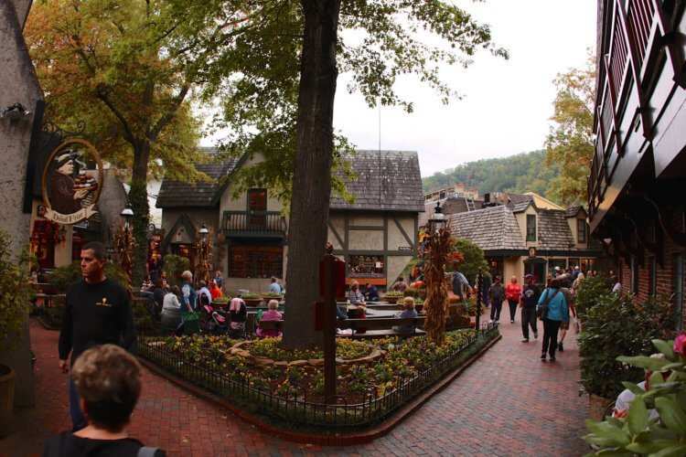 Gatlinburg Village Cobblestone Streets