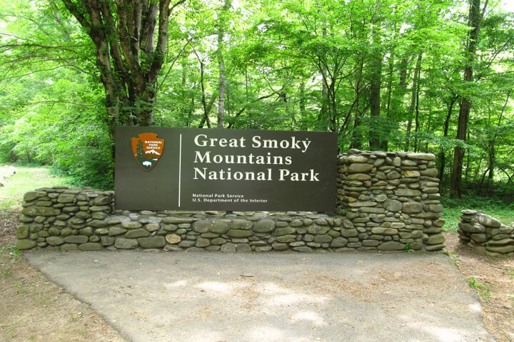 Great Smoky Mountains National Park Sign Gatlinburg, TN
