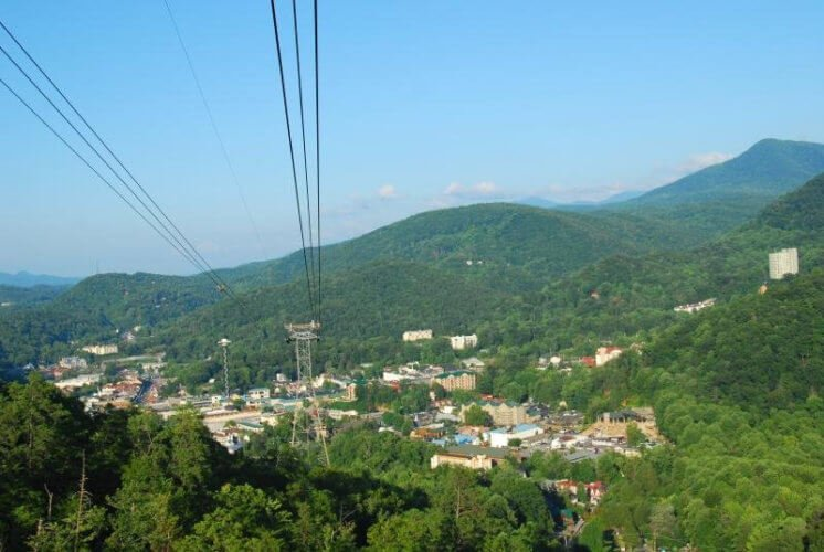View for Gatlinburg Sky Lift