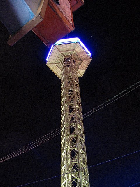Gatlinburg Space Needle Night time