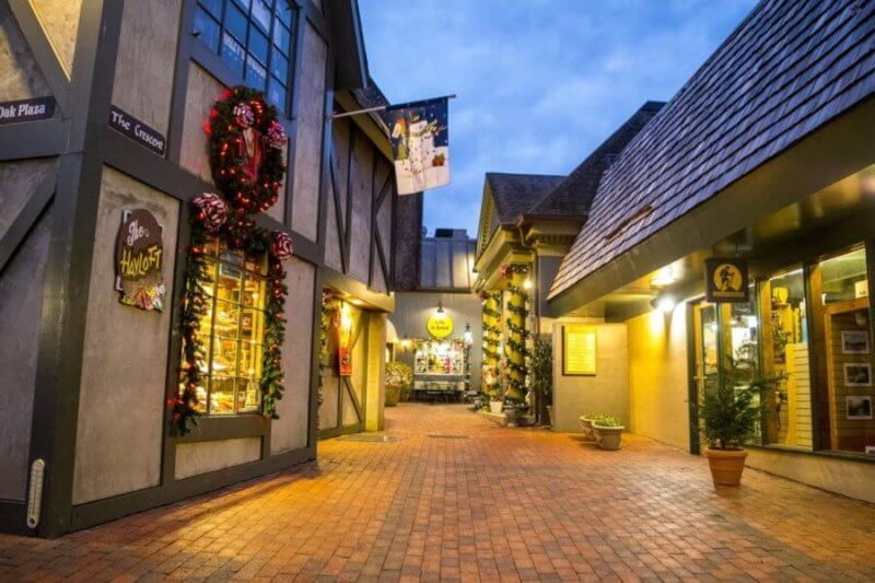 Gatlinburg's Village Shopping Center Night