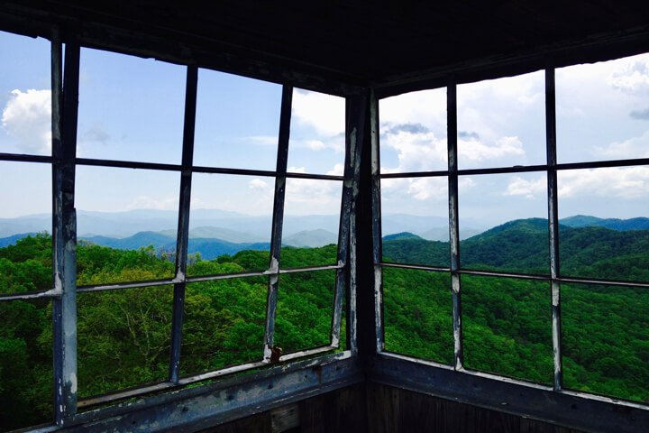 Doe Mountain Recreation Area- Kettlefoot Fire Tower Lookout view of Iron Mountain