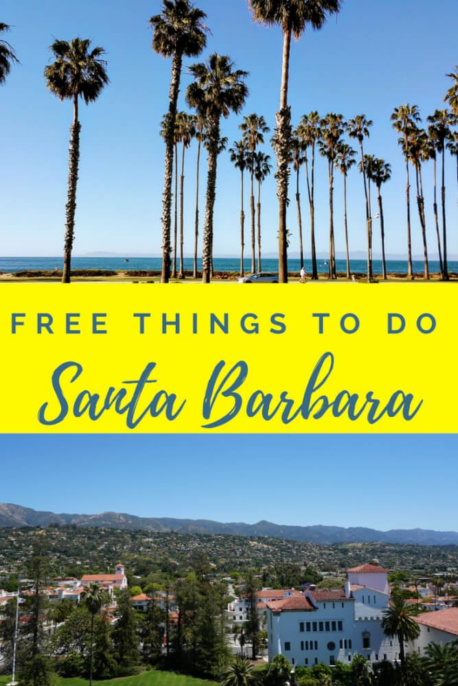 FREE things to do in Santa Barbara. (And one small expense in nearby Solvang). Take a morning stroll along East Cabrillo Blvd Tour the Santa Barbara Courthouse and Climb the Clocktower Enjoy the scenic drive along the San Marcos Pass Stroll the beautiful streets of Solvang Visit the largest Fig tree in the United States