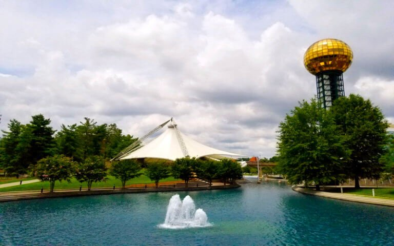 Worlds Fair Park Knoxville Waterfront Fountains