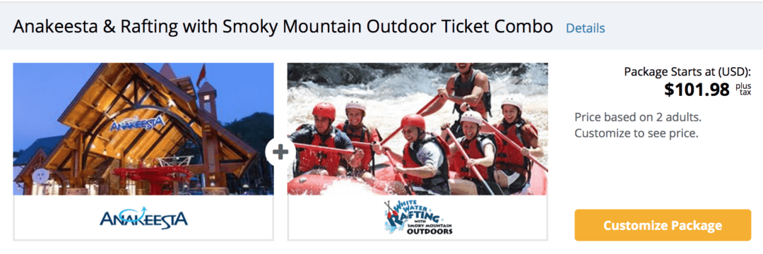 Anakeesta & Raftting with Smoky Mountain Outdoor Ticket Combo