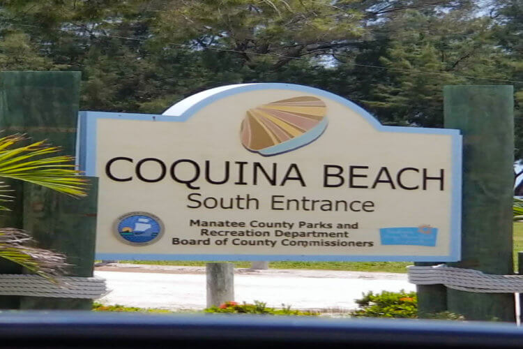 Coquina Beach South Entrance