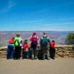 Family Viewing Grand Canyon South Rim