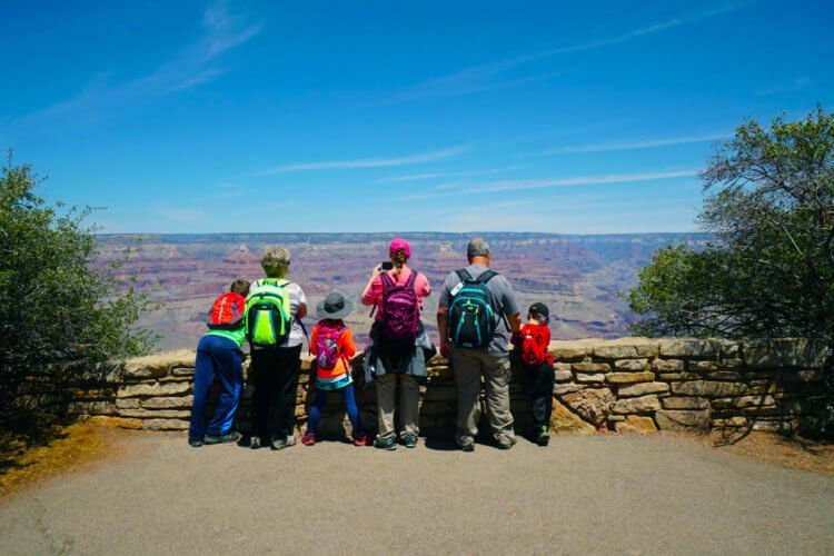 Family Viewing Grand Canyon South Rim