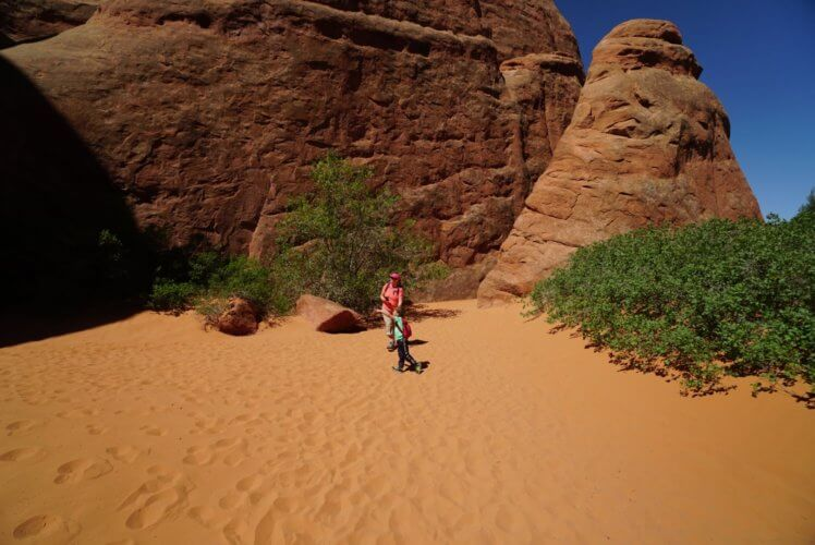 Sand Dunes Arch at Arches National Park