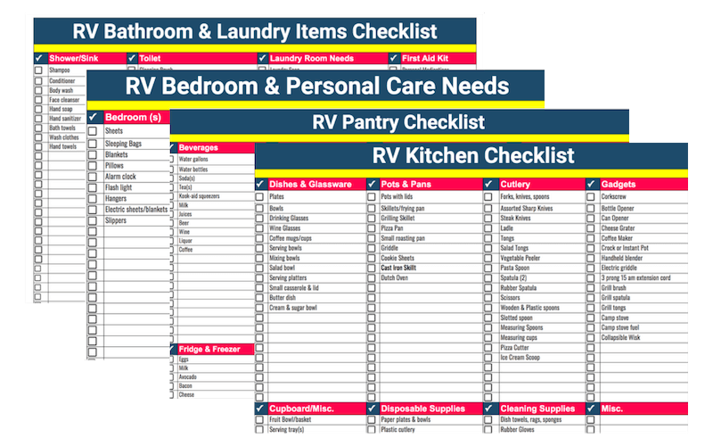 image relating to Rv Checklist Printable titled RV Getaway Designing Cheklist Spreadsheet