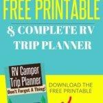 RV Checklist Free Printable
