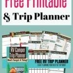 RV Checklists & Trip Planner FREE Printable
