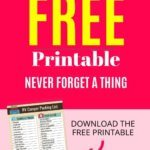 RV Packing Lists FREE Printable