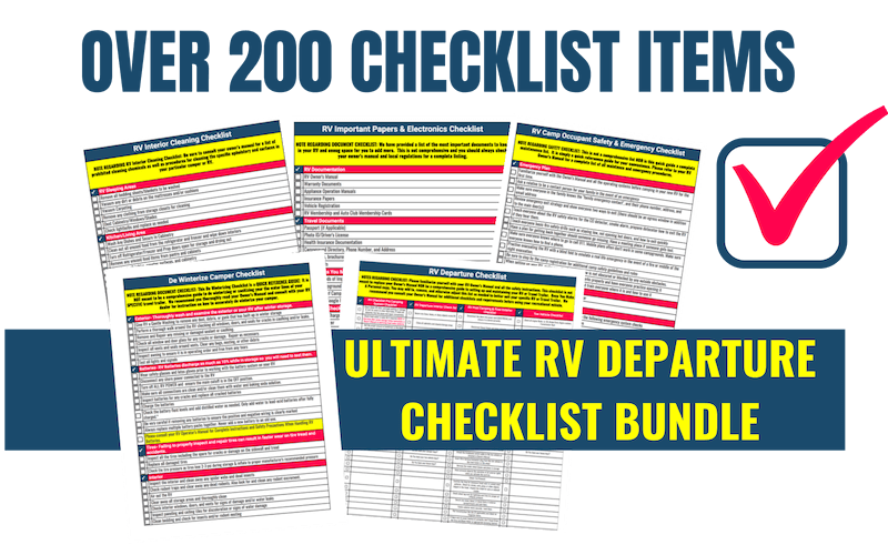 RV Departure Checklists