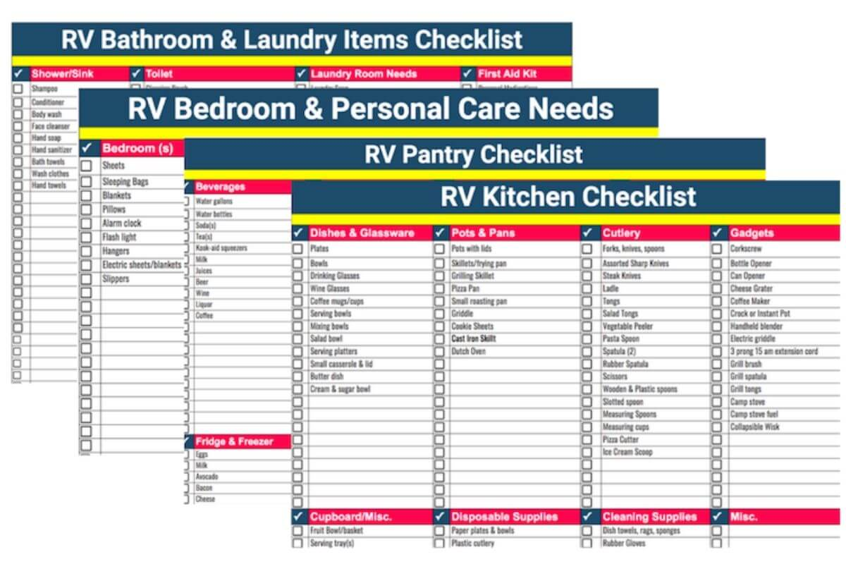 RV PACKING LIST BUNDLE