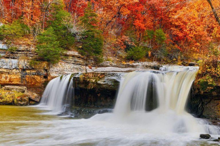 Smoky Mountains Fall Waterfall