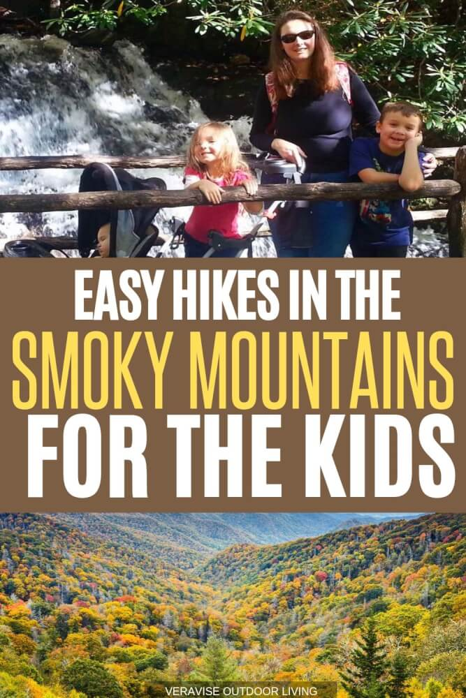 hiking with kids in the smoky mountains
