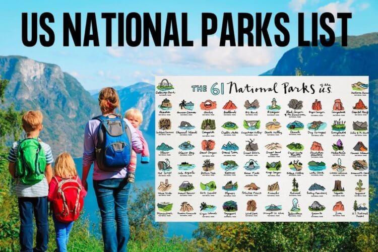 US national parks list printable