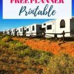 Free Printable RV Road Trip Planner