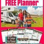 Printable FREE RV Road Trip Planner