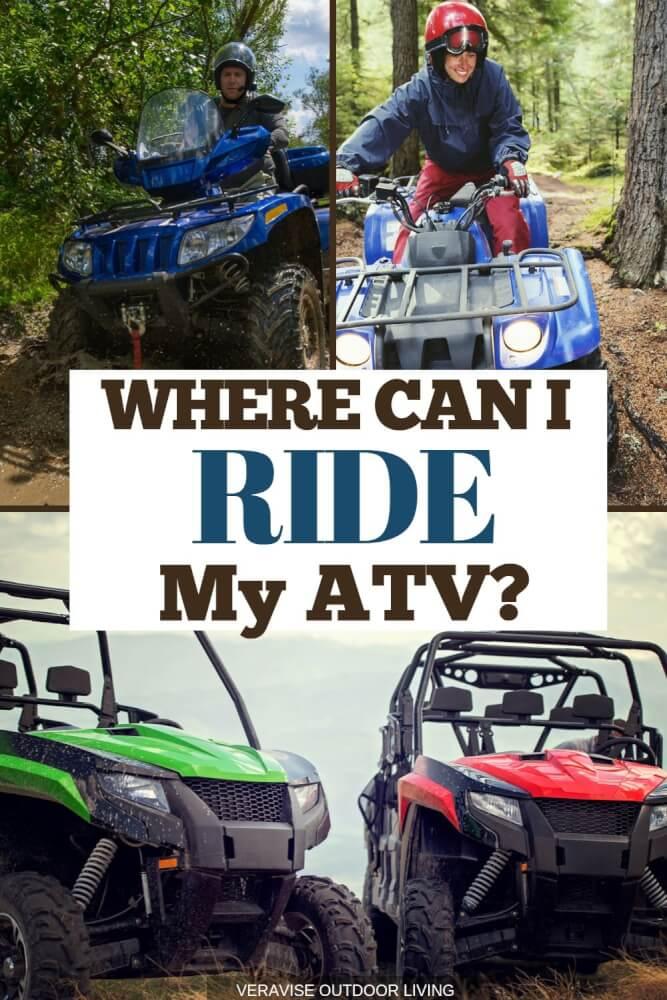 Where can I ride my ATV?