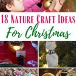 Nature Christmas Crafts with kids