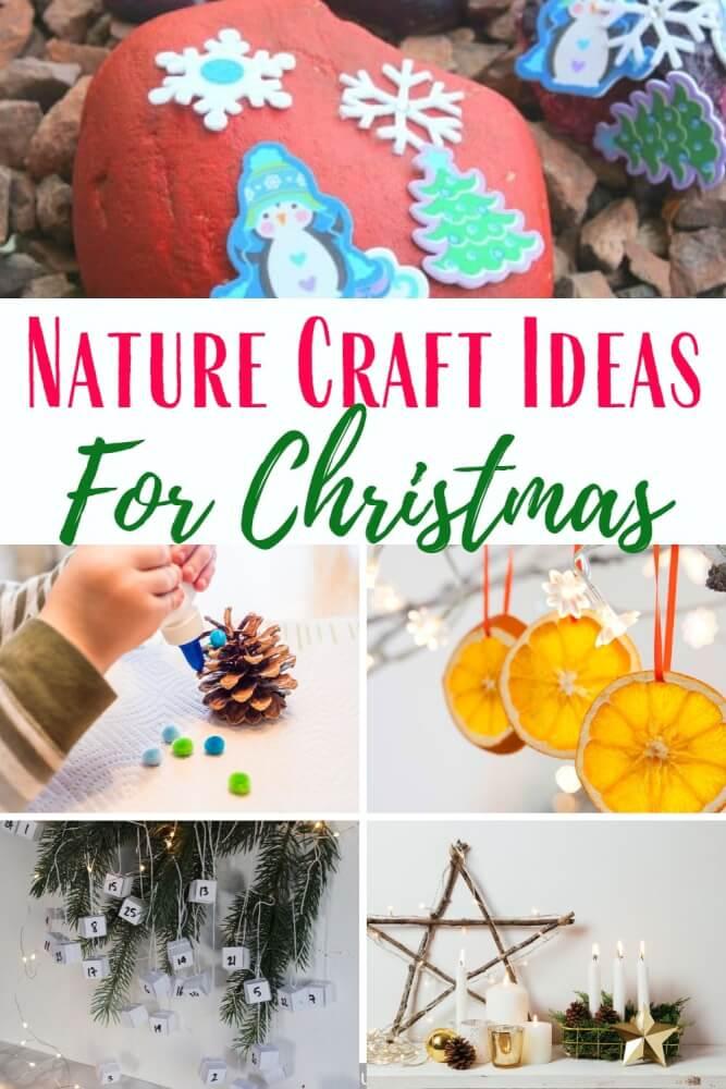 nature christmas craft ideas