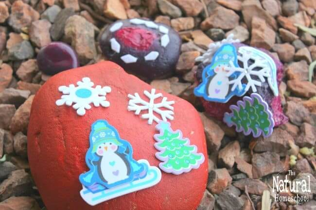 christmas rock painting crafts