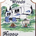 Happy Campers Hand painted RV signs