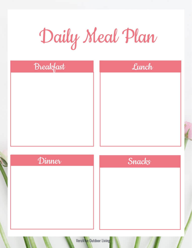 daily meal planning sheets