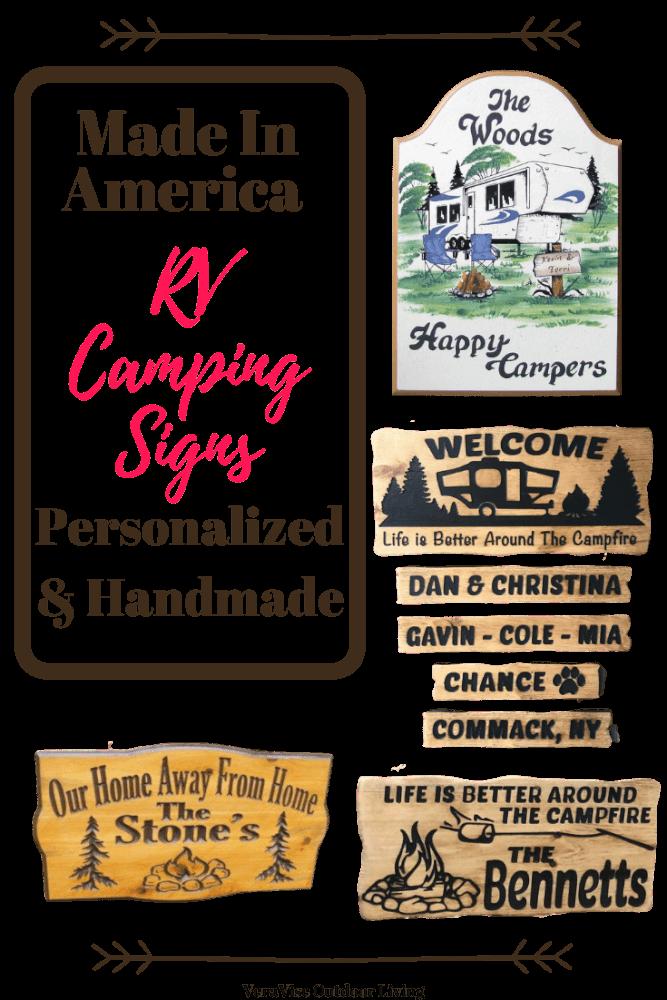 RV Camping Signs
