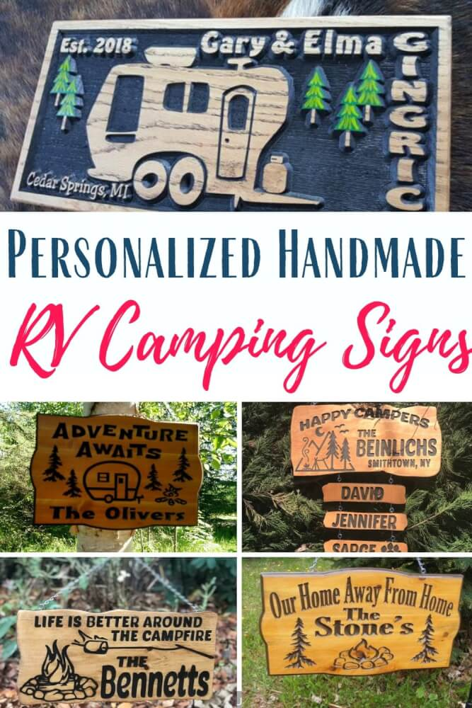 Personalizes RV Camping Sings