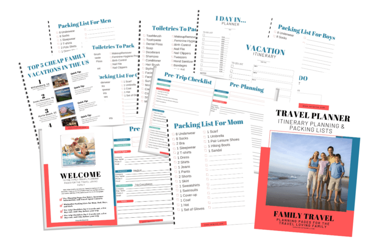 Family Travel Planner Pages