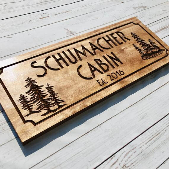 Custom Personalized Camping Wood Sign