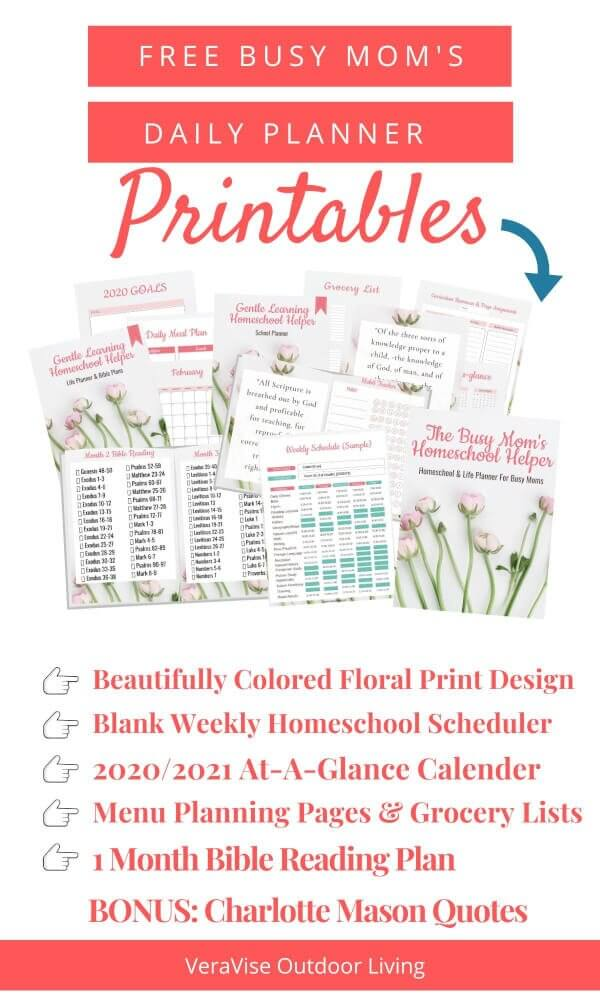 Busy homeschool planner pages