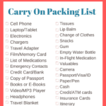 TRAVEL PACKING LISTS [FREE]