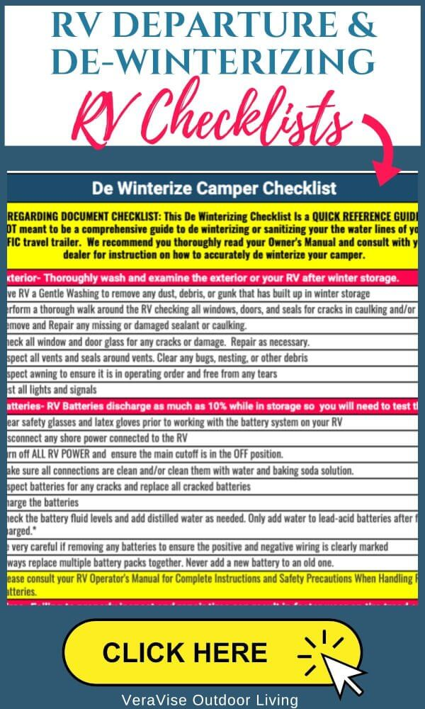 RV travel trailer checklists