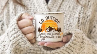 Bigfoot-Sasquatch Personalized Coffee Mug - Go Outside Coffee Mug