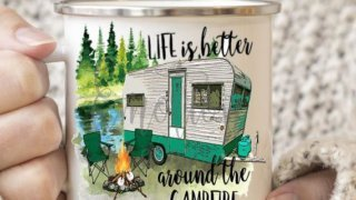 Camping RV Personalized Coffee Cup - Camping Mug