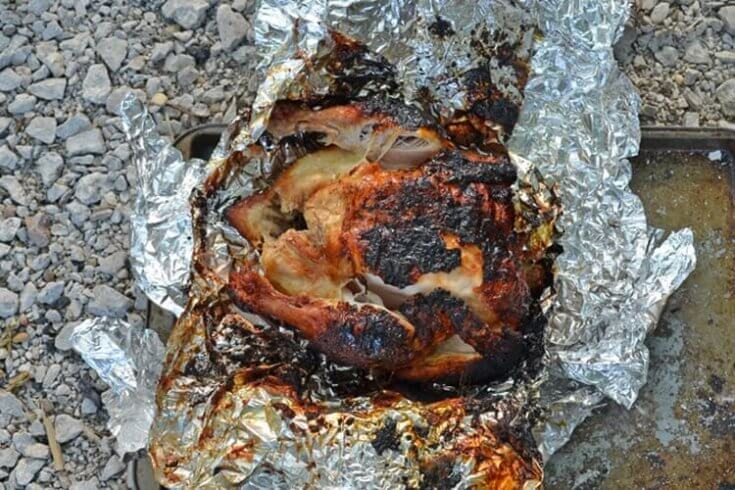 Campfire Roasted Chicken