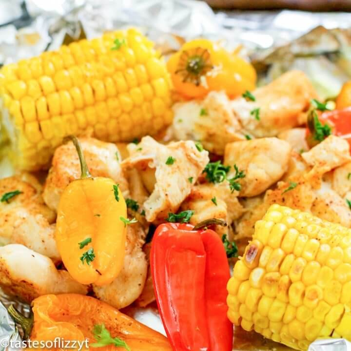 Corn and Chicken Foil Packet Camping Meal